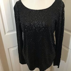 J. Crew Sequined Party Shirt
